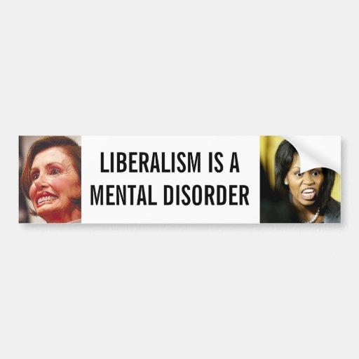 Liberalismo Pegatina De Parachoque
