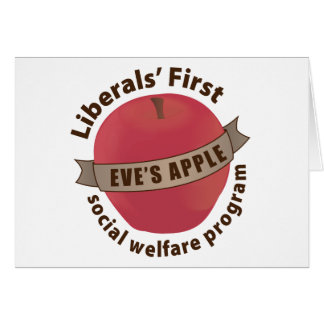 Liberals' First Social Welfare Program Stationery Note Card
