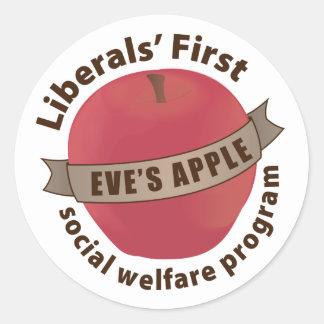 Liberals First Social Welfare Program Sticker