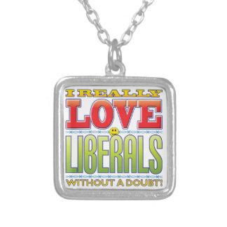 Liberals Love Face Pendants