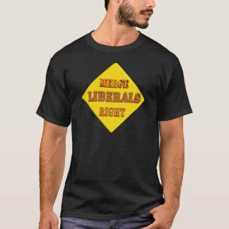 liberals merge right T-Shirt