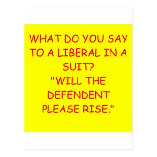 liberals post card