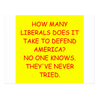 liberals postcard