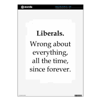 Liberals, Wrong About Everything iPad 2 Skin
