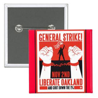 Liberate Oakland Occupy Protest Flyer 2 Inch Square Button