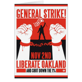 Liberate Oakland Occupy Protest Flyer Greeting Cards