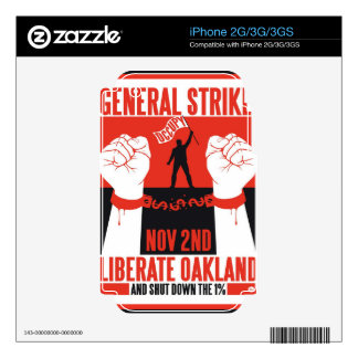 Liberate Oakland Occupy Protest Flyer Skins For iPhone 3GS