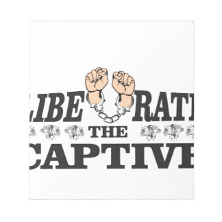 liberate the inslaved notepad