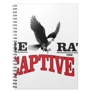 liberate the slaves bird spiral notebook