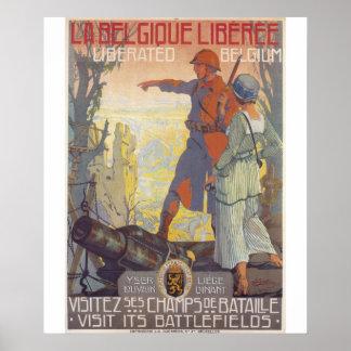 Liberated Belgium Propaganda Poster