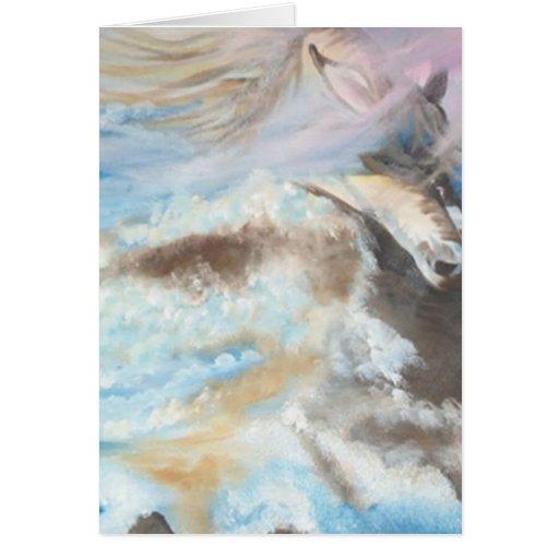 Liberdade - óleo - 40x50 tarjeta de felicitación