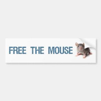 Libere a la pegatina para el parachoques del ratón pegatina de parachoque