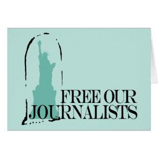 Libere a nuestros periodistas tarjeta pequeña