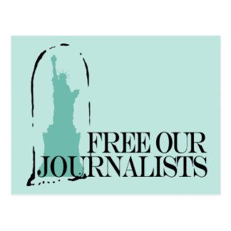 Libere a nuestros periodistas tarjetas postales