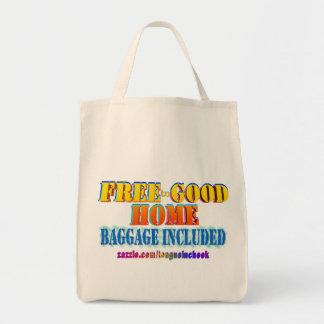 Libere al buen hogar, equipaje incluido. bolsa tela para la compra
