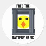 Libere al pegatina de las gallinas de batería
