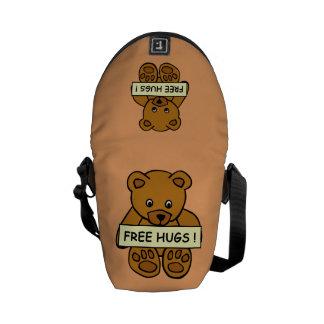 Libere bolsa de mensajero del peluche de los abraz bolsas de mensajeria