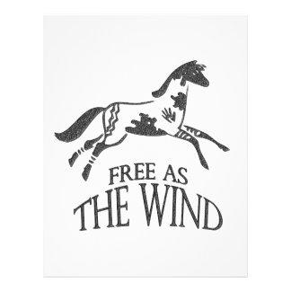 Libere como el viento tarjetas publicitarias