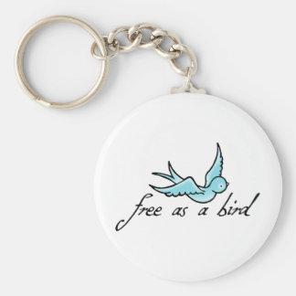 Libere como pájaro llaveros personalizados