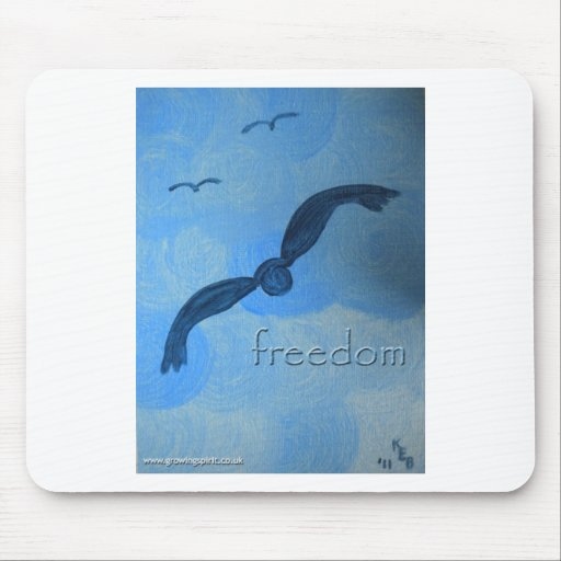 Libere como pájaro tapete de ratones
