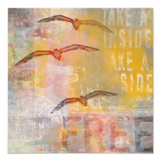 """Libere como un pájaro invitación 5.25"""" x 5.25"""""""