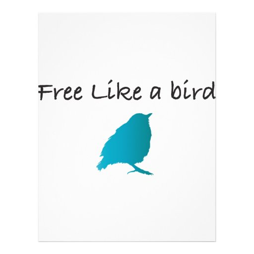 Libere como un pájaro tarjetón