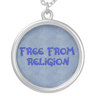 Libere de la religión collar plateado