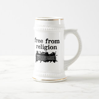Libere de la religión jarra de cerveza