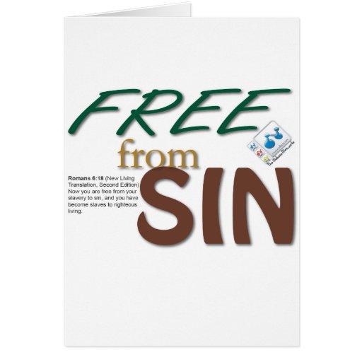 Libere de pecado tarjeta de felicitación