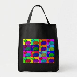 Libere el arte pop colorido del erizo de los abraz bolsa tela para la compra