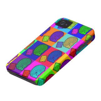 Libere el arte pop colorido del erizo de los abraz iPhone 4 protector