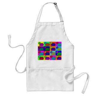 Libere el arte pop colorido del erizo de los abraz delantal