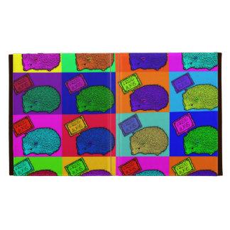 Libere el arte pop colorido del erizo de los abraz