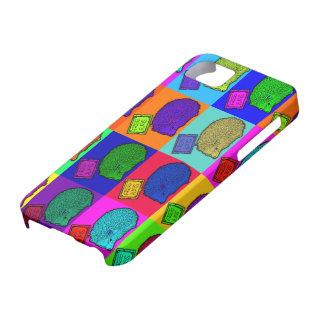 Libere el arte pop colorido del erizo de los funda para iPhone SE/5/5s