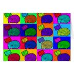 Libere el arte pop colorido del erizo de los tarjeta de felicitación