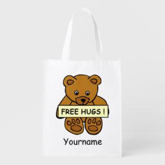 Libere el bolso reutilizable de encargo del bolsas de la compra