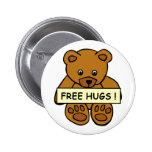Libere el botón de los abrazos pins