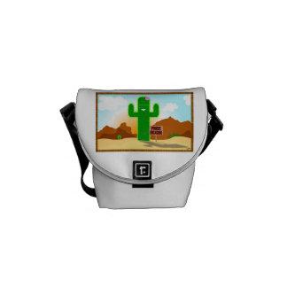 Libere el cactus de los abrazos bolsas de mensajeria