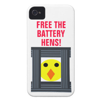 Libere el caso del iPhone 4 de las gallinas de bat iPhone 4 Fundas