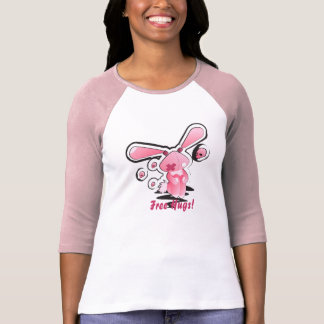Libere el conejito de los abrazos • Señoras 3/4 ra Camiseta