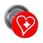 Libere el corazón curado listo para el nuevo botón pin
