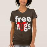 libere el corazón de los abrazos camisetas