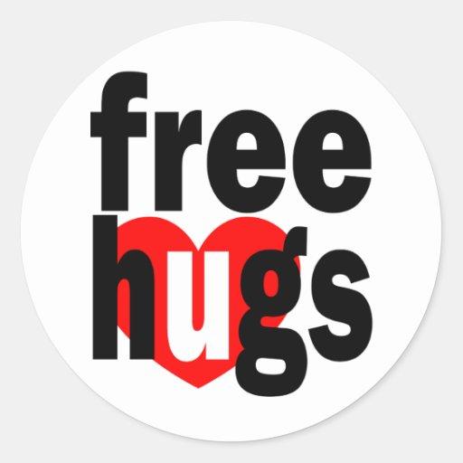 libere el corazón de los abrazos etiqueta redonda