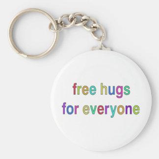 ¡Libere el diseño divertido de los abrazos! Llaveros Personalizados