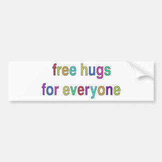 ¡Libere el diseño divertido de los abrazos! Pegatina Para Auto