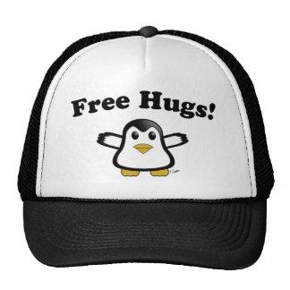 Libere el gorra del camionero del pingüino de los