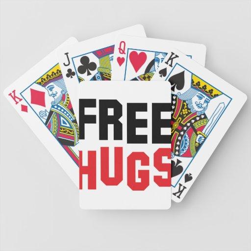 libere el icono de los abrazos baraja cartas de poker