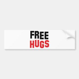 libere el icono de los abrazos pegatina para auto