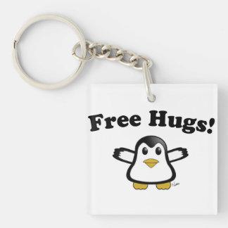 Libere el llavero del pingüino de los abrazos