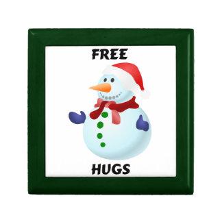 Libere el muñeco de nieve del navidad de los cajas de joyas